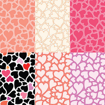Free hearts patterns, twitter backgrounds and vector graphics - Free image #308695