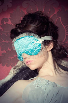 Chantily Silk Mask in teal - Free image #309155