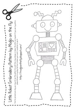 Robot Embroidery Pattern - Free image #310125