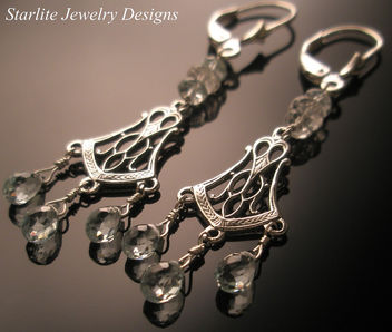 Starlite Jewelry Designs - Briolette Earrings - Jewelry Design ~ Fashion Jewelry - Aquamarine Earrings - image #314055 gratis