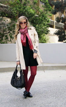 Burberry-Trench-Coat-wine-tights-lbd-Ferragamo-bag-brogues-1 - image gratuit #314305