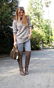 jeans otk boots sweater louis vuitton bag - image gratuit #314525