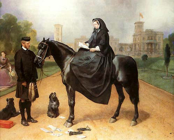 Queen Victoria in Widow's Weeds with John Brown by Edwin Henry Landseer, late 1860s - image gratuit #316545