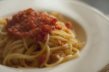 Pasta with tomatoes - Free image #317105