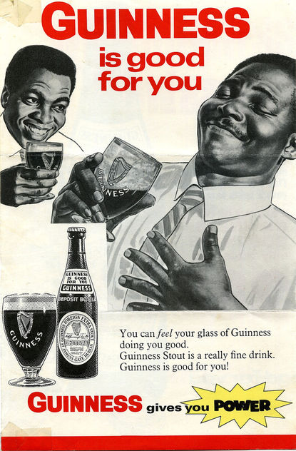 Part of a 1968 advertising sheet for Guinness after they established a brewery in Sierra Leone (West Africa) - Free image #317195