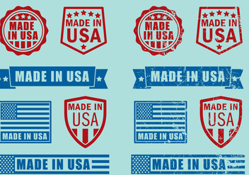 Made In USA Stamps - vector gratuit #317465