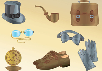 Men Accessories Vectors - бесплатный vector #317485