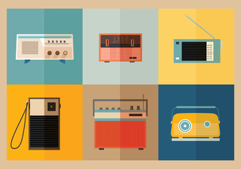 Old transistor radio vectors - бесплатный vector #317515