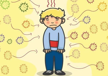 Sick Child - Free vector #317535