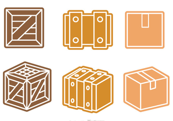 Box And Crate Vector - Kostenloses vector #317625