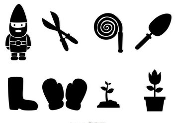 Gardening Black Icons - Free vector #317645