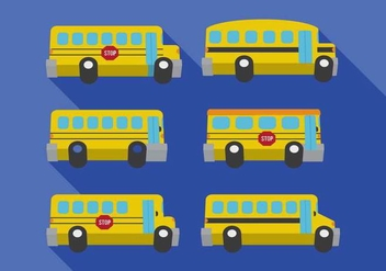 School Bus Vectors - vector gratuit #317665