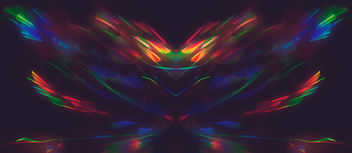 Refracted light paint Rorschach - Free image #321275