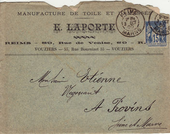 Free texture - stamped envelope from 1900 - image gratuit #322185