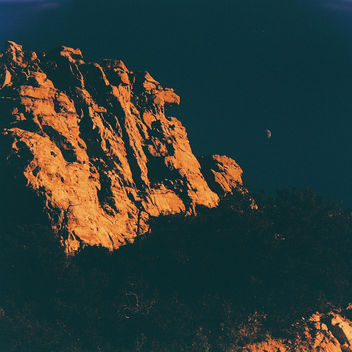 Mt. Lemmon in orange and blue - Free image #322625