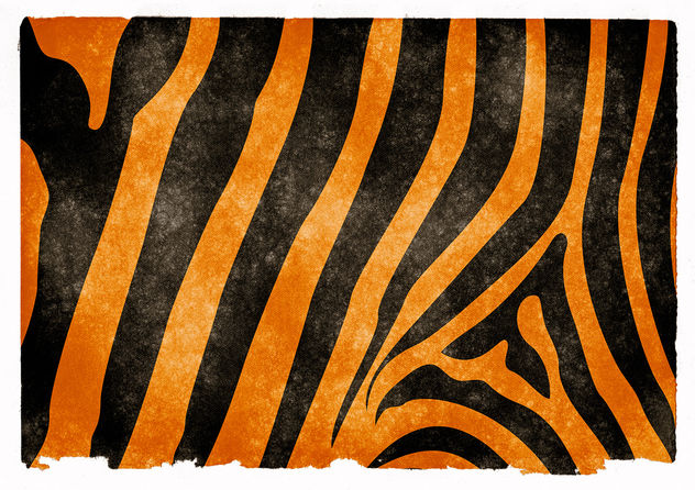 Tiger Striped Grunge Texture - image gratuit #323885
