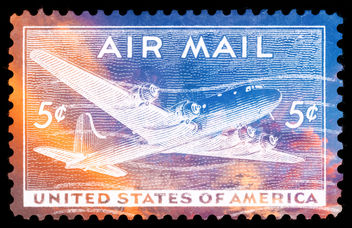 Vibrant US Air Mail Stamp - бесплатный image #324505