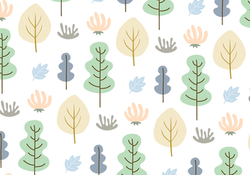 Leaves and trees pattern background vector - vector #326575 gratis