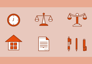 Free Law Office Vector Icons #2 - бесплатный vector #326605