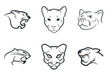 Free Cougar Mascot Vector Illustration - Free vector #326625