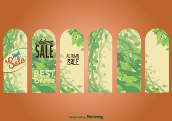 Seasonal Autumn Sale Labels & Tags - vector #326665 gratis