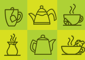 Vector Tea Outline Icons - vector gratuit #326715