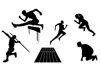 Athlete Vectors - Free vector #326735