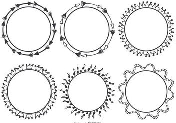 Decorative Frame Set - vector #327005 gratis