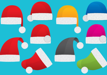 Santa Claus Hats - Free vector #327045
