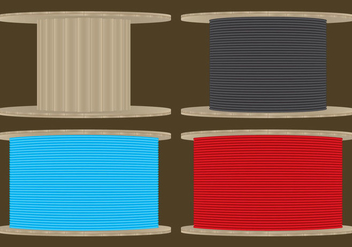 Cable Spools - vector #327055 gratis