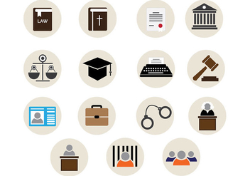Law Office Vector Icons - бесплатный vector #327085