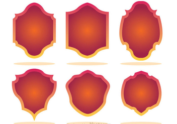 Gradation Shield Shape Icons - Free vector #327105