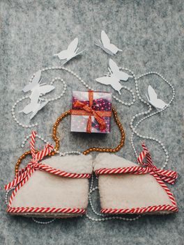 Tiny boots, gift and butterflies - image #327285 gratis