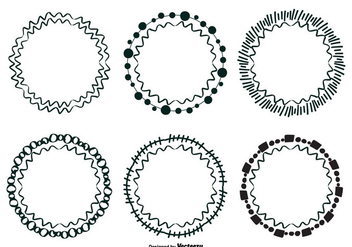 Cute Doodle Frame Set - Free vector #327355