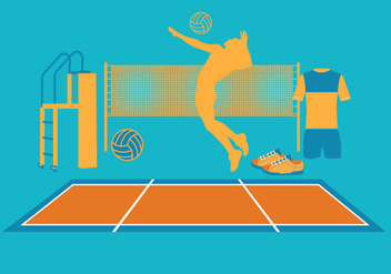 Volleyball Vectors - vector gratuit #327395