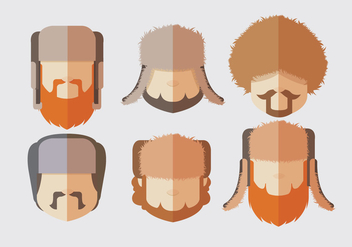 Man Fur Hat Vectors - бесплатный vector #327415