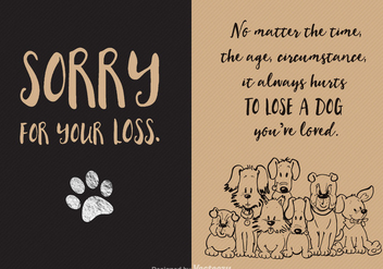 Free Loss Of Dog Vector Card - vector gratuit #327445