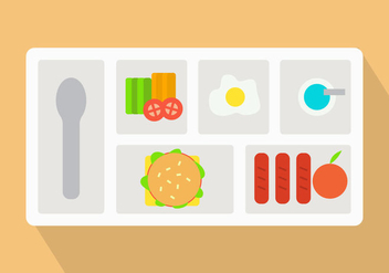 Free School Lunch Vector Icons #3 - Free vector #327465