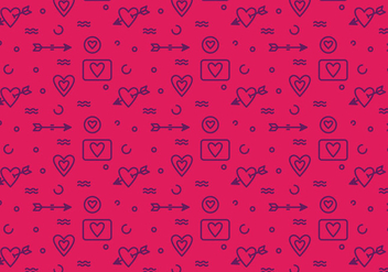 Free Heart Vector Pattern #6 - Kostenloses vector #327495