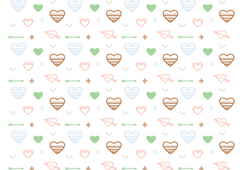 Free Heart Vector Pattern #2 - Kostenloses vector #327585