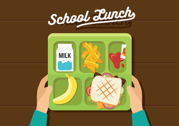 Vector School Lunch - Free vector #327595