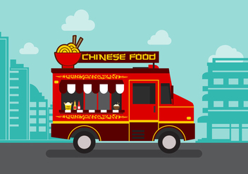 Vector Chinesefood Truck - Free vector #327635