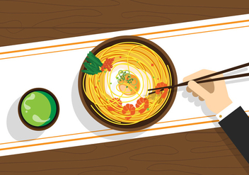 Vector Ramyeon Korean Food - vector gratuit #327665