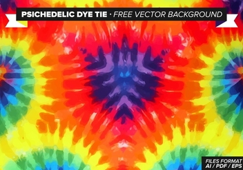 Psychedelic Dye Tie Free Vector Background - бесплатный vector #327675