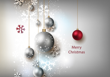 Free Christmas Grey Background Vector - Free vector #327925