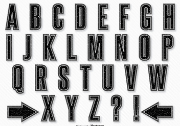 Retro Style Alphabet Set - vector gratuit #328005