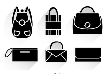Bag Black Icons With Shadows - Kostenloses vector #328205