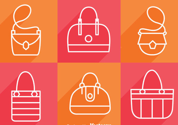 Bag Long Shadow Icons - vector gratuit #328215