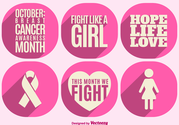 Breast cancer awareness elements - vector gratuit #328275