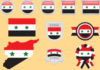 Syria Flag Vectors - бесплатный vector #328295